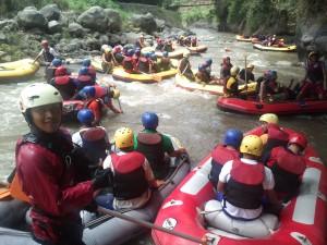 wisata di kota batu malang - rafting sahabat air